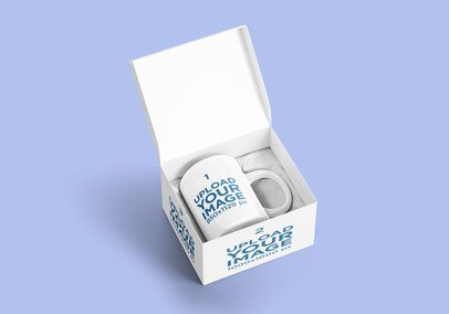Mockup of a Coffee Mug on a Customizable Box 2373-el1