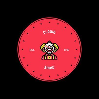Party Organizer Logo Generator for Clown Entertainers 610a-el1