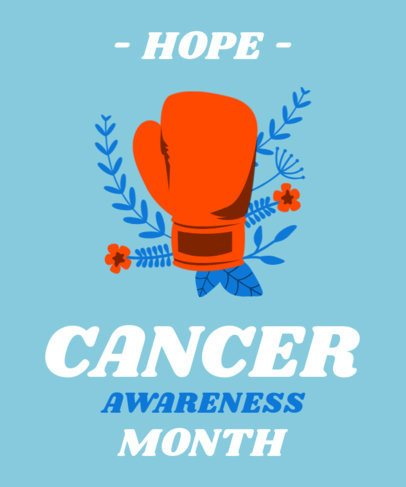 T-Shirt Design Template for Cancer Awareness Month 2166