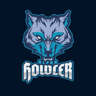 Sports Logo Maker Featuring a Fierce Wolf's Face 2680q-2883