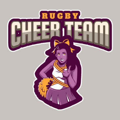 Online Logo Generator for Rugby Cheerleaders 1619h-2883