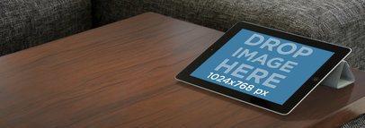 Black iPad Landscape Living Room