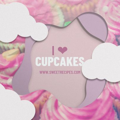Instagram Post Template for a Cupcake Enthusiast 308d