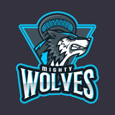 Sports Logo Maker with an Aggressive Wolf Graphic 1748n-2881