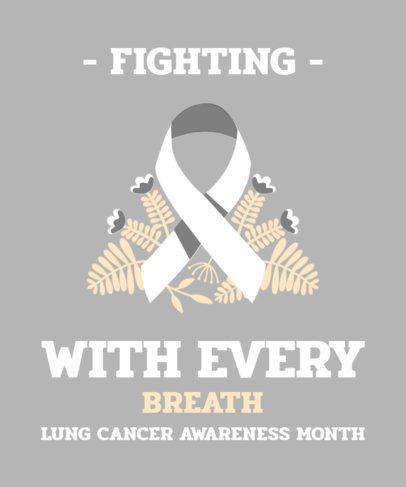 Lung Cancer Awareness T-Shirt Design Template 2166d