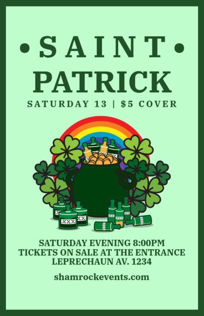 Online Flyer Maker for a Saint Patricks Day-Related Announcement 2184