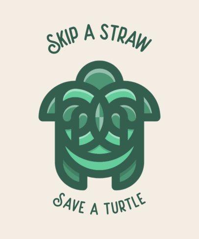 T-Shirt Design Maker Featuring a Sea Turtle Icon 601c-el1