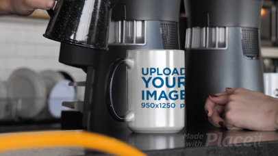 Video of a Couple Serving Some Coffee in a 15 oz Magic Mug 31579