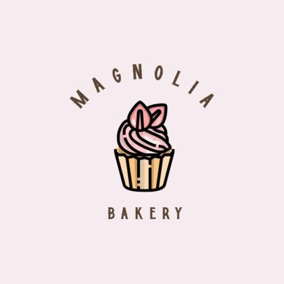 Online Logo Generator for a Pastry Shop Featuring a Cupcake Graphic 609c-el1