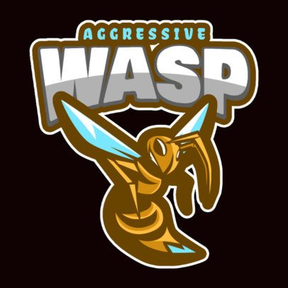 Mascot Logo Template with an Aggressive Wasp Illustration 120bb-2883