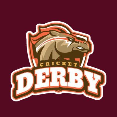 Sports Logo Maker for a Cricket Team Featuring a Furious Horse 1651h-2893