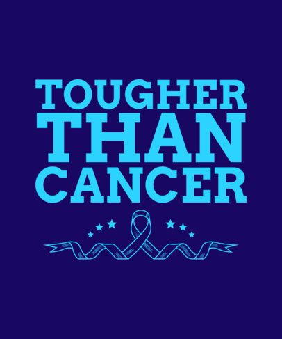 T-Shirt Design Creator with a Quote in Support of Cancer Survivors 2165d