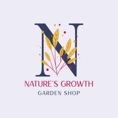 Monogram Logo Template for Garden Shops 2840e