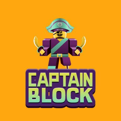 Gaming Logo Maker Featuring a Pirate Character Inspired by Roblox 2878a