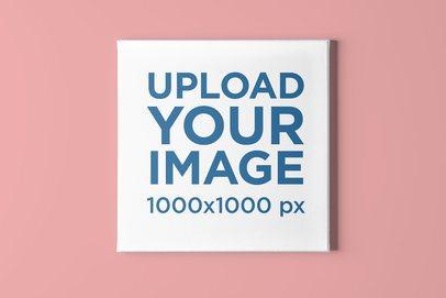 Minimalistic Mockup of a Squared Canvas on a Plain Wall 2520-el1