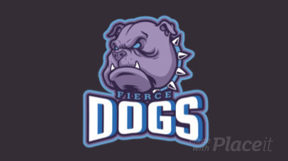 Gaming Logo Maker Featuring an Animated Aggressive Pitbull Graphic 1748i-2880