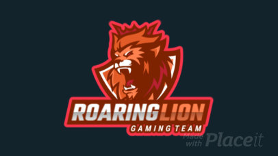 Animated Logo Template for a Gaming Team Featuring a Roaring Lion with a Crown 2704k-2880