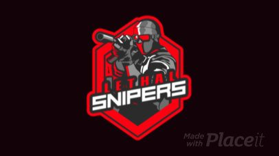 Animated Logo Maker for Shooting Games Featuring a Sniper Clipart 1743u-2889