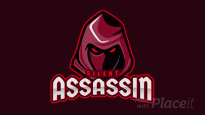 Animated Gaming Logo Generator Featuring a Hooded Assassin Illustration 1877j-2889