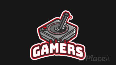 Retro Gaming-Themed Animated Logo Template with a Joystick Illustration 523u-2889