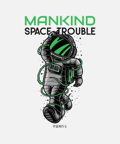 Sci-Fi T-Shirt Design Maker Featuring an Astronaut Illustration 234c-el1