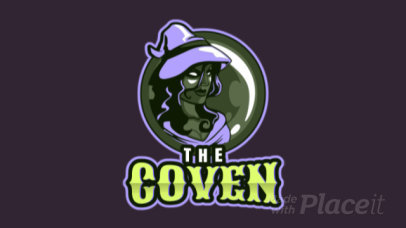 Logo Maker for a Gaming Team Featuring an Animated Witch Graphic 1741h-2892
