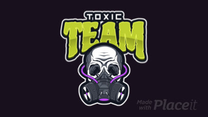 Animated Gaming Logo Template Featuring an Illustrated Skull with a Respirator 1869s-2883