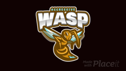 Animated Mascot Logo Template with an Aggressive Wasp Illustration 120bb-2883