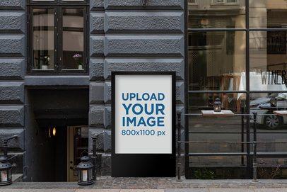 Mockup of a MUPI Placed Against an Elegant Store Facade 2483-el1