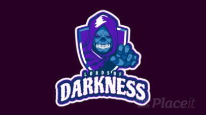 Creepy Animated Logo Template for a Gaming Team 2620q-2881