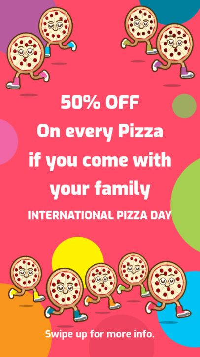 Instagram Story Maker Featuring Pizza Day Promotions 2207