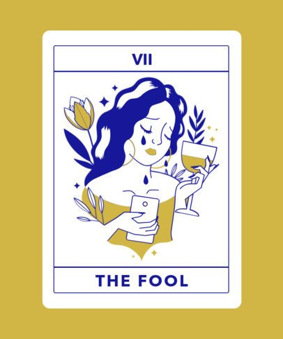 Illustrated T-Shirt Design Maker With Cool Tarot-Inspired Graphics 2198