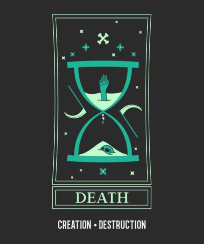 Tarot T-Shirt Design Template with a Mesmerizing Graphic 2197c