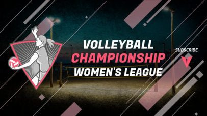 Sports YouTube Banner Maker with a Volleyball Theme 2033e-2217