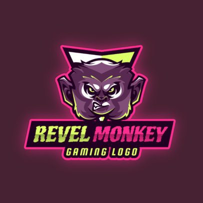 Gaming Logo Creator Featuring an Illustrated Angry Monkey 2903f