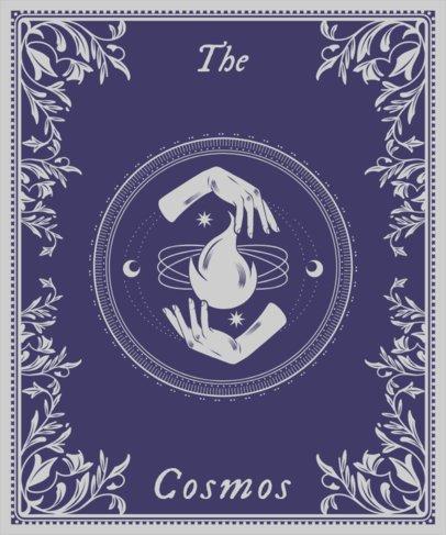 T-Shirt Design Template with a Tarot Cards Theme 2196g