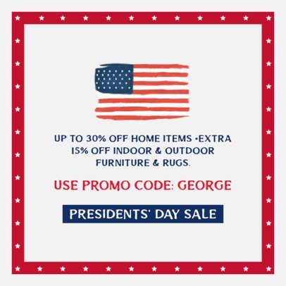 Facebook Post Generator for a President's Day Sale 2204b