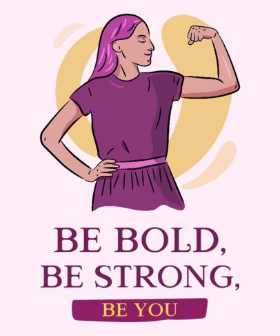T-Shirt Design Generator Featuring an Empowered Woman Graphic 2195b