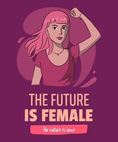 T-Shirt Design Maker Featuring a Fierce Woman Graphic 2195f