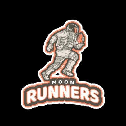 Football Logo Generator Featuring a Running Astronaut a245vv-2936