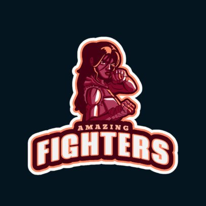 Gaming Logo Generator With a Female Fighter Clipart 1746k-2927