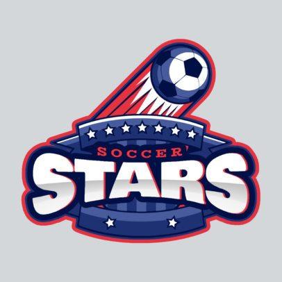 Soccer Team Logo Maker with a Flying Soccer Ball 1748z-2927