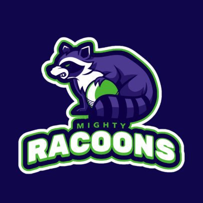 Cricket Logo Generator Featuring an Angry Raccoon Clipart 1651m-2928