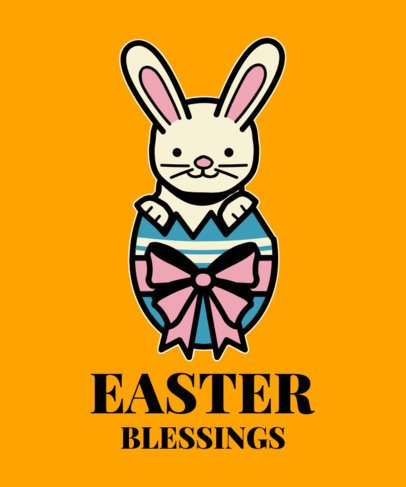 T-Shirt Design Generator With an Easter Bunny Illustration 2224d