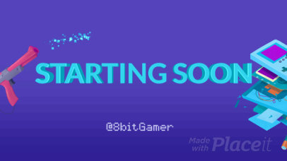 Starting Soon Screen Video Maker for Retro Gaming Streaming Channels  2529