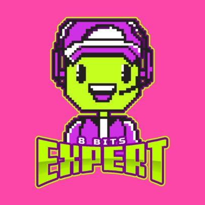 8 bit Logo Maker Featuring a Cute Character 1741i-2933