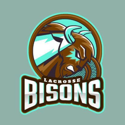 Logo Creator for a Lacrosse Team with a Bison Graphic 1748y-2932