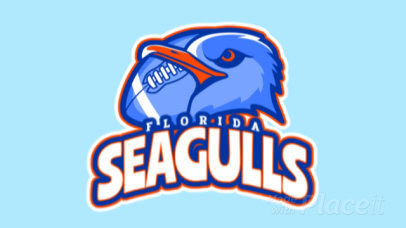 Animated Logo Maker for a Football Team With a Seagull Mascot Graphic 245oo-2933