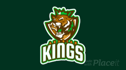 Animated Sports Logo Maker Featuring a Royal Lion with a Crown 1616n-2933