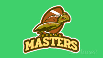 Animated Football Logo Creator with an Illustration of a Turtle a245ss-2933